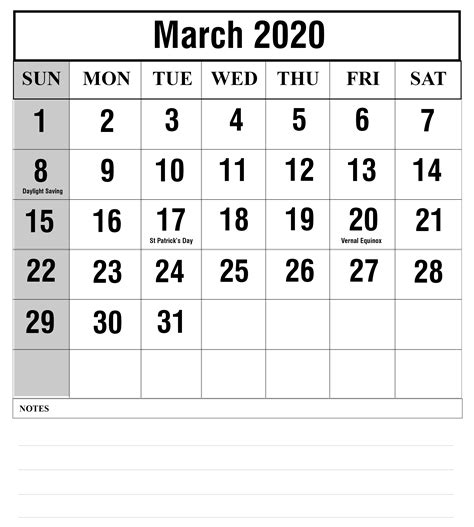march  calendar printable templates  excel word printable april