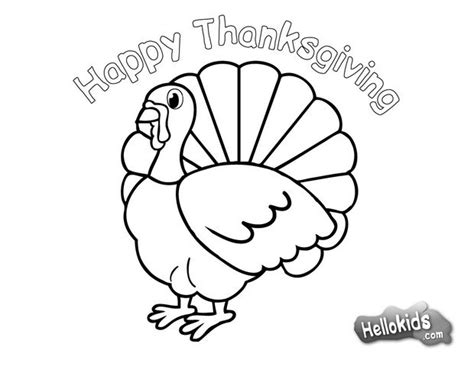 Turkey For Thanksgiving Coloring Pages Hellokids Com Coloring Pages Thanksgiving Turkey