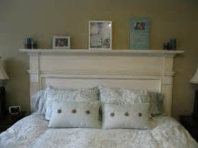 fireplace mantel headboard i made an fireplace mantle into our headboard in the
