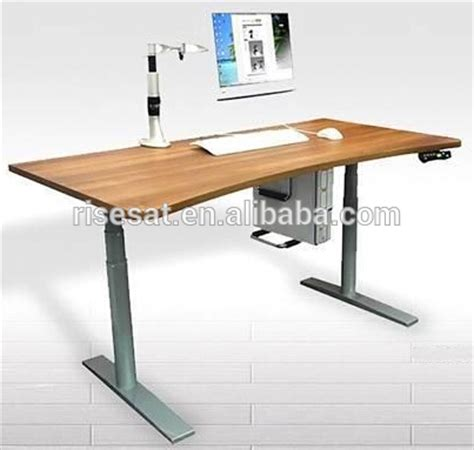 Height Adjustable Office Desk by Electric Adjustable Height Ergonomic Office Desk For