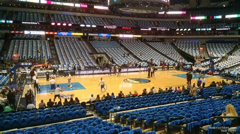 Section 108 I by Dallas Mavericks American Airlines Center Section 108