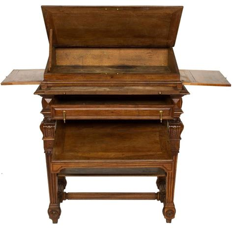 French Renaissance Walnut Stand Up Writing Desk At 1stdibs Stand Up Writing Desk