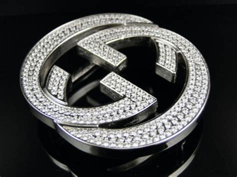 mens iced out lab simulated diamond buckle for real gucci