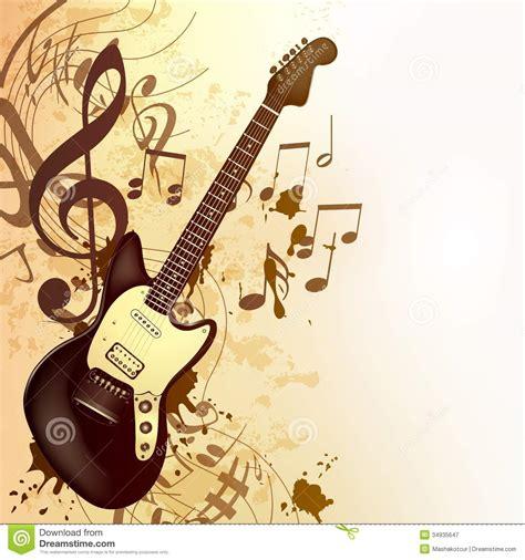 Imagenes Guitarras Vintage   fondo de la m 250 sica en estilo del vintage con la guitarra