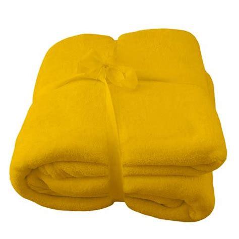 fleecedecke gelb decke tagesdecke kuscheldecke microfaser wohndecke 150 x