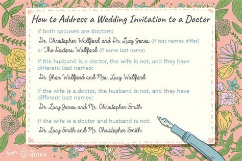 Married Both Doctors Wedding Invitation