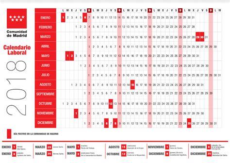 Calendario 2018 Laboral España Consulta El Calendario Laboral De 2018 En Madrid Madridiario