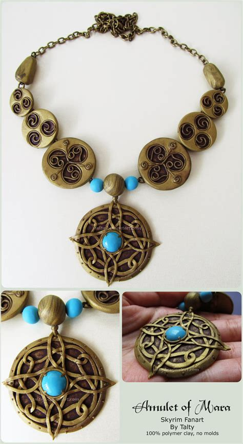 amulet of mara polymer clay necklace by talty on deviantart