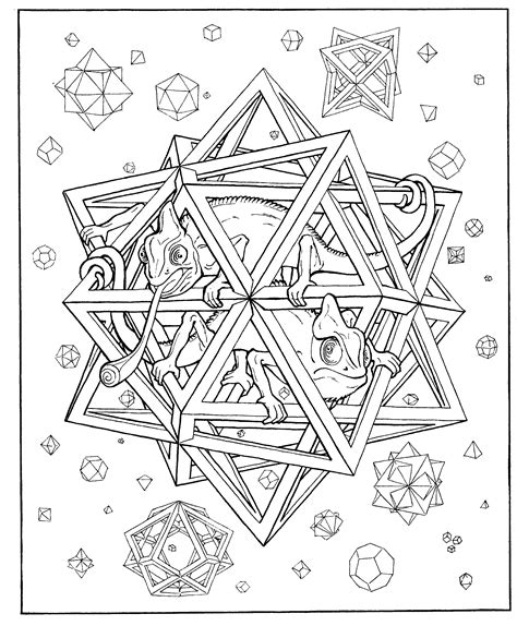 3d coloring book free coloring pages of 3d for adults