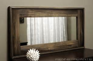 bathroom mirror wood wood framed mirrors rustic milwaukee by kennethdante