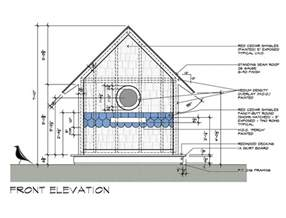 house elevation dimensions birdhouse drawings front elevation design by dallas