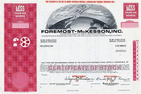 Mckesson Background Check Foremost Mckesson Inc California Specimen