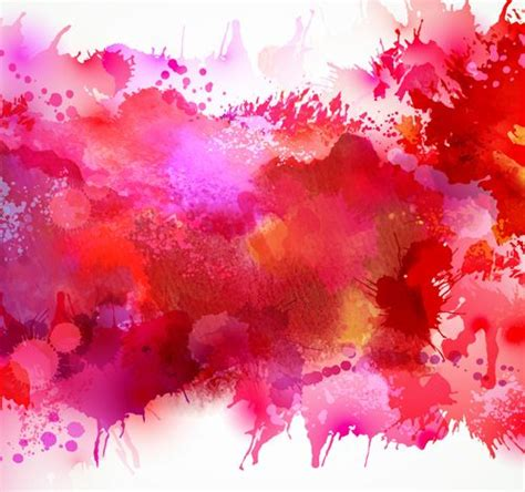 multicolor watercolor splash background illustration vector 05 new year 2105