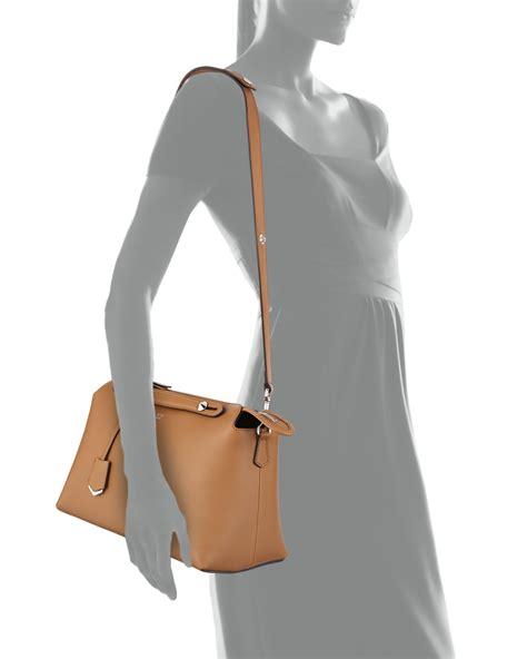 New Tas Fendi By The Way Karlito Large 87008 Semi Premium fendi by the way large leather satchel in brown lyst
