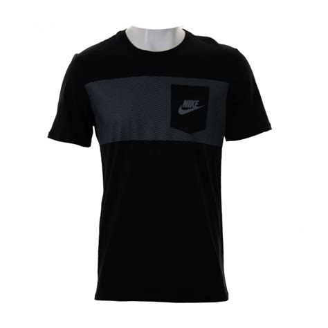 nike t shirt pattern nike nike mens cortez pattern t shirt black grey t