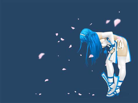 wallpaper blue anime blue anime girl background new best wallpapers 2016