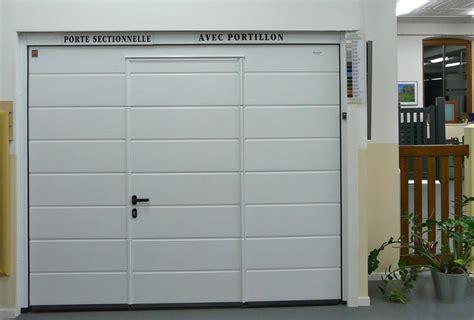 porte de garage sectionnelle avec portillon hormann prix