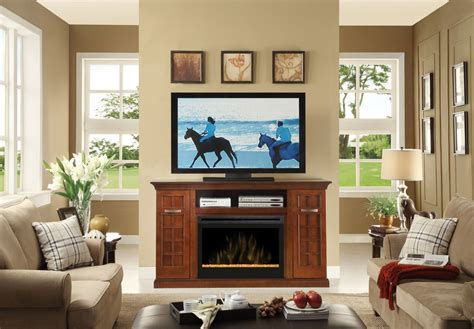 Living Room With Electric Fireplace | electric fireplace entertainment center living room