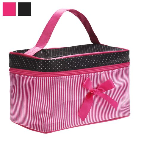 Bow Cosmetic Bag square bow stripe cosmetic bag 11street malaysia