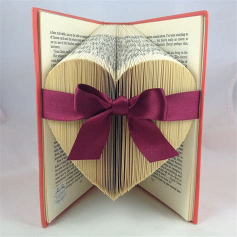 Book Paper Folding - folded large upcycled book by thefoldedpageshop