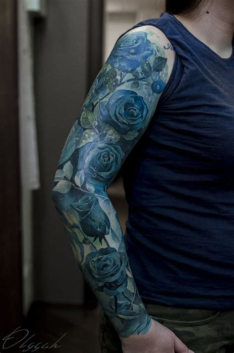black and blue rose tattoo best 25 blue ideas on sleeve
