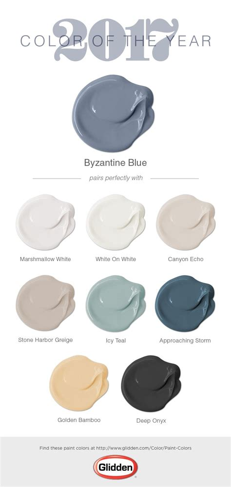 the glidden 174 2017 color of the year is byzantine blue chosen for its versatility and gender