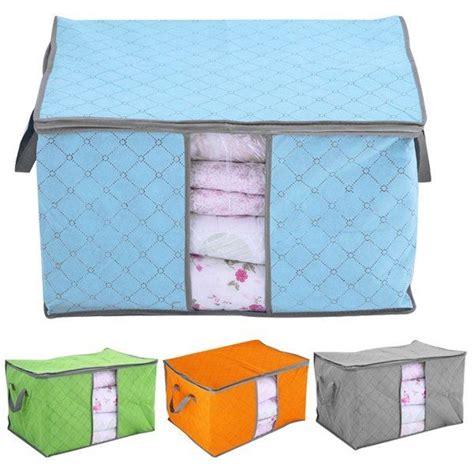 pillow storage blankets clothes sheets pillow quilt duvet bedding container storage bag box s l ebay