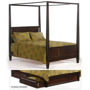 Canopy Poster Bed The Laurel Wood Poster Canopy Bed In Dark Chocolate By