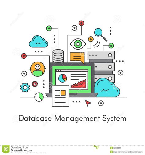 data base management system dbms cartoons illustrations vector stock images 30