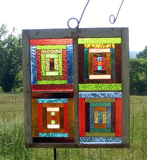 quilt pattern stained glass stained glass window log cabin quilt pattern by chorvalcottage