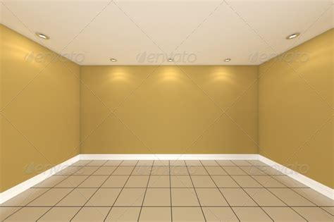 home interior wall home interior rendering with empty room color wall stock