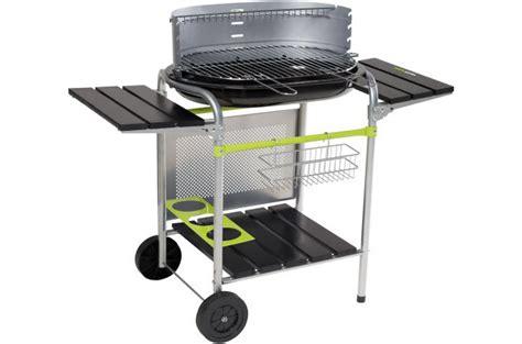 Barbecue De Table Charbon 157 by Cook Barbecue Sur Chariot Cuve En Acier Maill