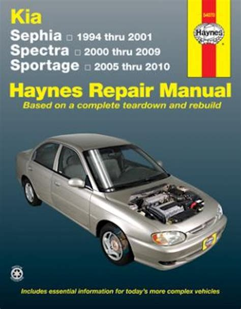 free auto repair manuals 2001 kia spectra regenerative braking kia sephia spectra sportage repair manual 1994 2010 haynes
