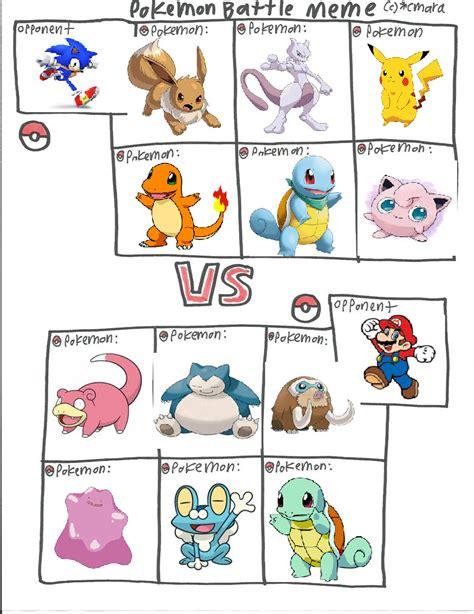 Pokemon Battle Meme - pokemon battle meme by rhiannonthecat on deviantart