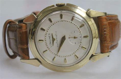 longines mens 14k gold automatic vintage