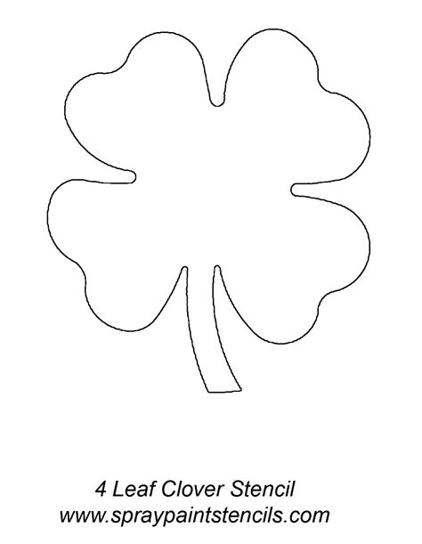 four leaf clover template four leaf clover template coloring home