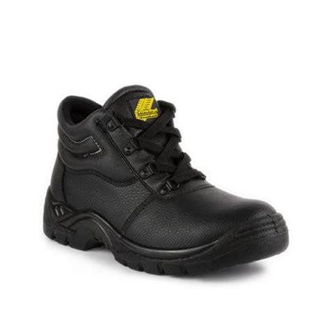 earthworks mens black coated leather safety boot 58532