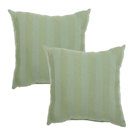 Home Depot Pillows by Hton Bay Bayou Solid Square Outdoor Throw Pillow 2