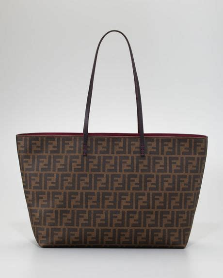 Fendi Matrioska Canvas Tote by Fendi Tobacco Quilted Zucca Canvas Large Tote In Brown