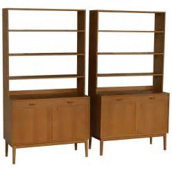 Mahogany Bookcases Rare Pair Of Swedish Mid Century Modern Storage Bookcases