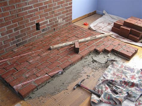How To Build A Brick Fireplace Hearth by Brick Laminate Picture Brick Hearths