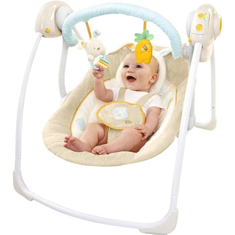 baby swing bright starts bright starts cotton tale portable swing travel baby