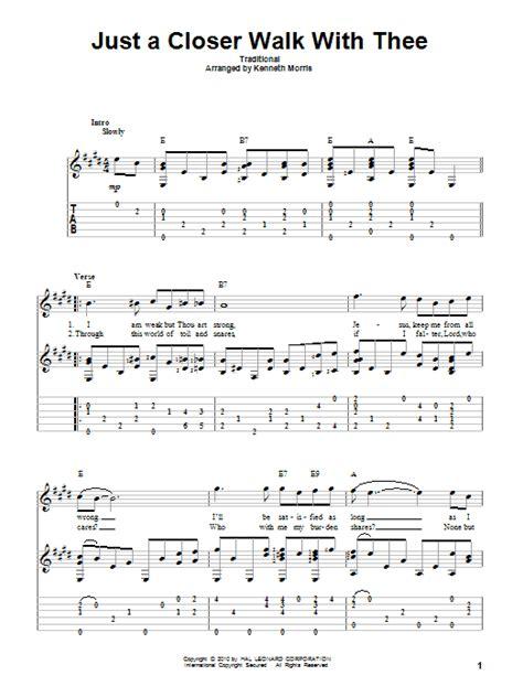 printable lyrics to just a closer walk with thee just a closer walk with thee sheet music direct