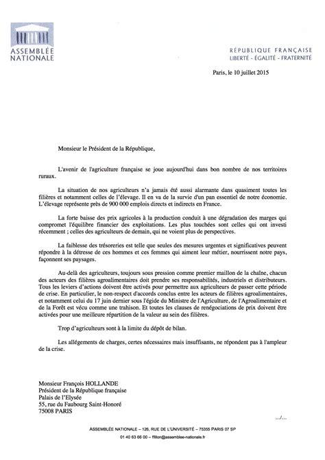 lettre officielle madame monsieur philippe gosselin d 233 put 233 de la manche crise agricole lettre adress 233 e au pr 233 sident de la