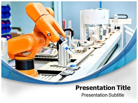 Automation Robotics Powerpoint Templates And Backgrounds Robotics Ppt Templates Free
