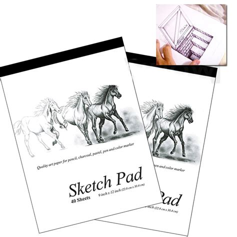 sketchbook quality 5 set 9 x 12 inches 40 sheets premium quality sketch book