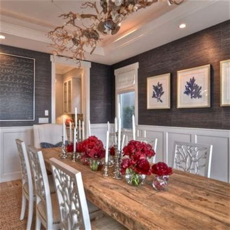 Dining Room Wood Paneling by Grasscloth Los Angeles 2017 Grasscloth Wallpaper
