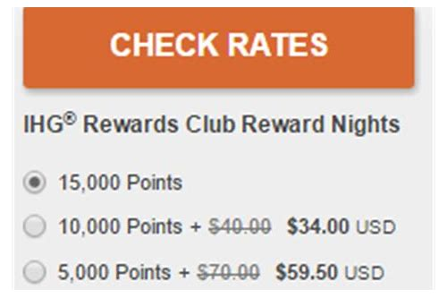 ihg points deals