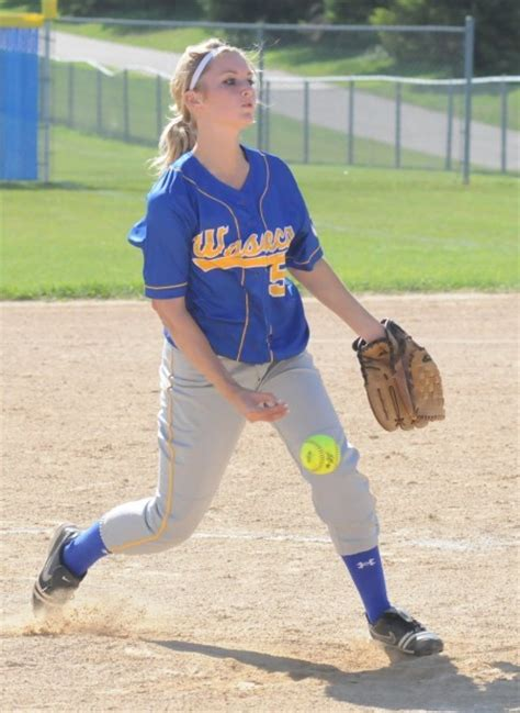 abby collins waseca softball s six game win streak snapped by new ulm