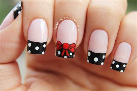imagenes de uñas acrilicas con lazos decoraci 243 n de u 241 as mo 241 o y lunares bow nail art youtube